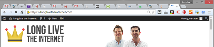 Browser Tab Icon on Chrome