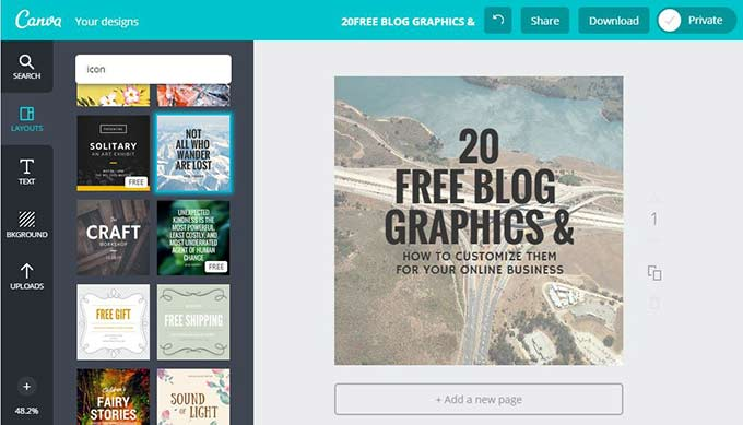 Creating Free Blog Graphics with Canva