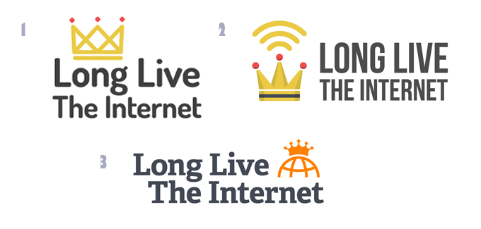Long Live The Internet Business Logo Designs