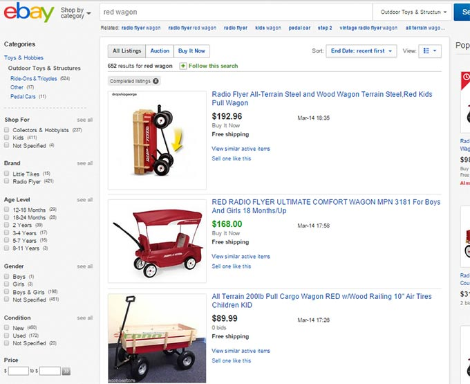 Red Wagon Sales Ebay