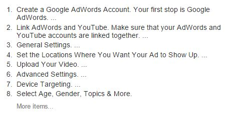 Create YouTube advertising