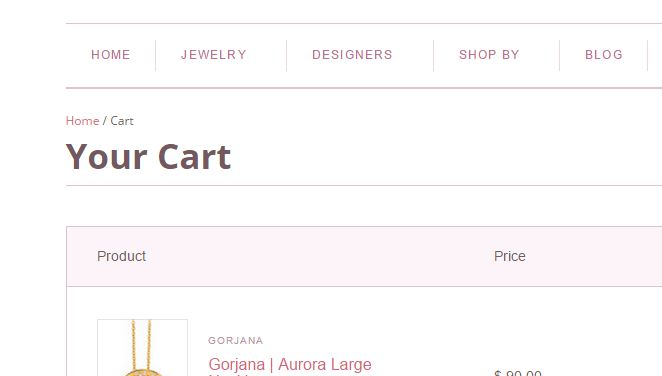 Shopping Cart Without Out of Town Text
