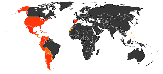 Countries that Speak Spanish to Convert Your Book