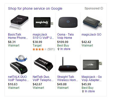 Google Shopping Knowledge Graph Box
