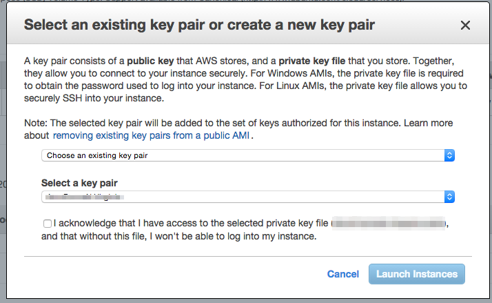 Amazon EC2 Launch with key pair