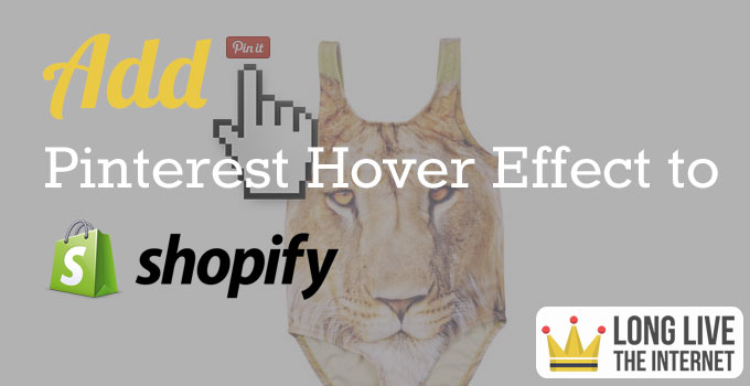 Pinterest hover effect on shopify