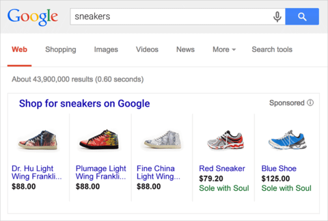 Google Product Listing