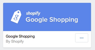 Google Shopping Shopify application