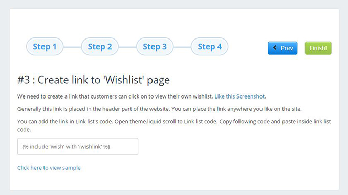 Wishlist On Ecommerce Site installed