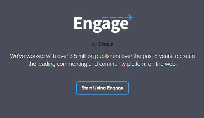 Engage is the same as Disqus Comments