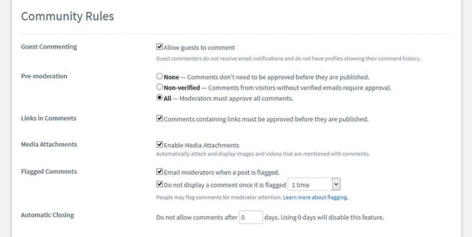 Edit preferences on Disqus Comments on your Shopify Site
