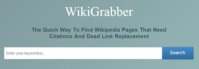 wiki grabber for finding wikipedia backlink for online store