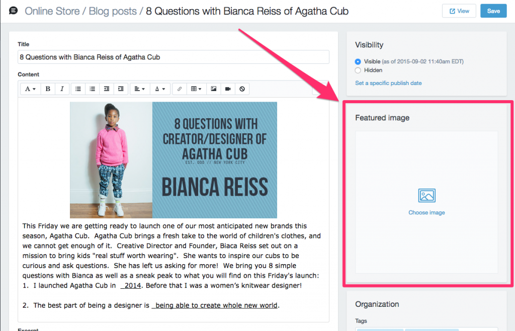 Shopify Featured Image in Blog Posts two different methods